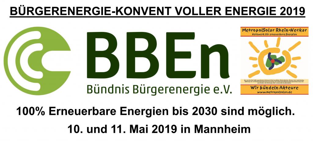 Bürgerenergie-Konvent VOLLER ENERGIE 2019