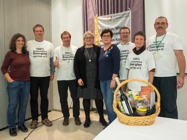 ISNB-Mitgliederversammlung 24.10.2019.  v. l. n. r.: Anke und Herwig Hufnagel, Manfred Burzler, Susanne Jung, Rita und Thomas Biber, Monika und Winfried Schenk  Bild: Privat